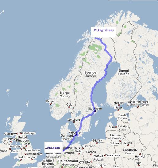 Karte Norwegen Mit Polarkreis.Spedition Kuhnert Polarexpress